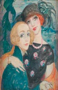 Ilustração de Lily e Gerda,  por Gerda Gottlieb.